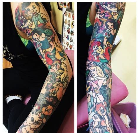 disney tattoo sleeve disney sleeve ideas disney disney