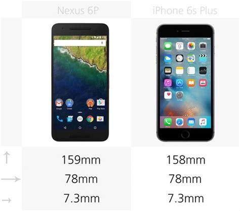 compare smartphones nexus 6p and iphone 6s plus