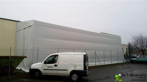 copertura capannone capannone mobile su ruote con copertura in pvc modena