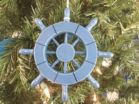 buy rustic light blue decorative ship wheel christmas tree