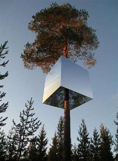 Tree Hotel Sweden | the mirrorcube tree house hotel in sweden