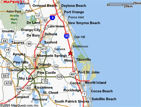 where is mims florida on map titusville