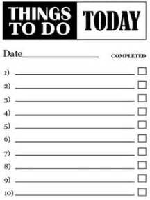 things to do template i so need this things to do template pdf free