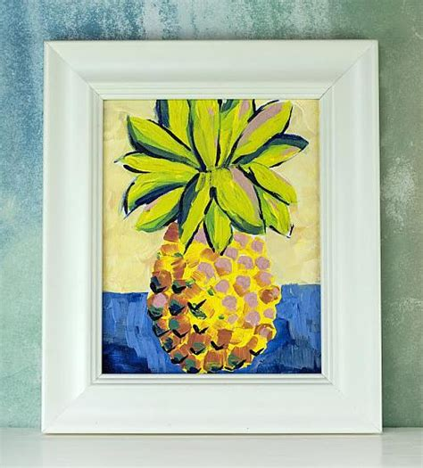 textured pineapple painting project  decoart