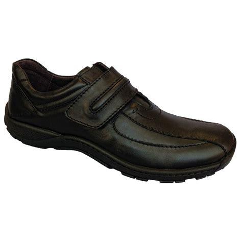 josef seibel mens arthur black velcro shoe marshall shoes