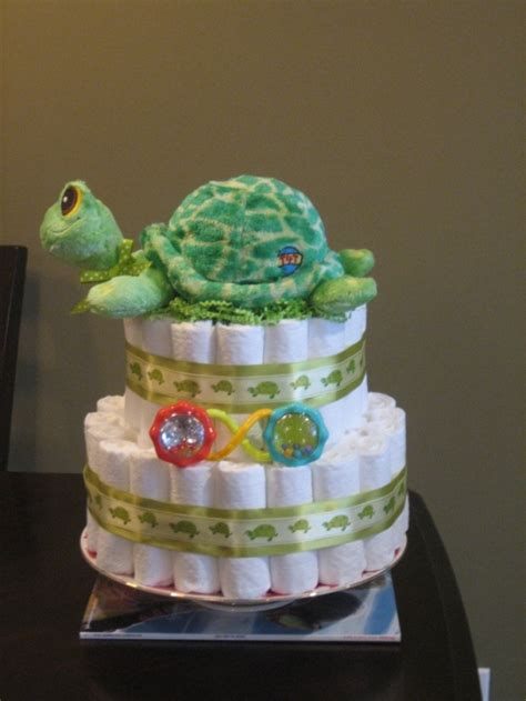 Turtle Themed Baby Shower Decorations by Baby Shower Cakes Turtle Neutral Green
