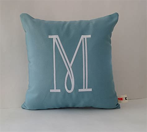 Monogrammed Outdoor Pillow by Monogrammed Initial Pillow Cover Sunbrella Indoor Outdoor