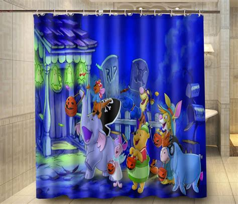 winnie the pooh shower curtain 2017 halloween winnie the pooh and friend new custom
