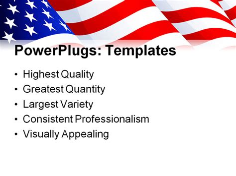 usa powerpoint template vector illustration usa flag in white background