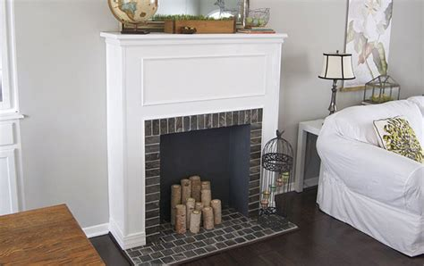 faux fireplace ideas and projects decorating your small
