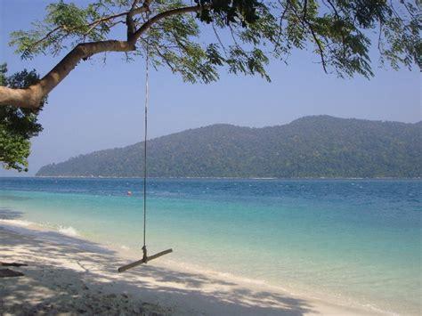 beach swings beach swing at ko rawi photo thailand