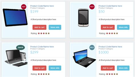 A Free Bootstrap Product Listing Template With Html And Css Add To Cart Template Bootstrap