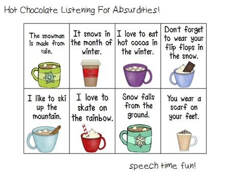 Auditory Memory Activities Worksheets by Speech Time Chocolate Listening Activity Freebie