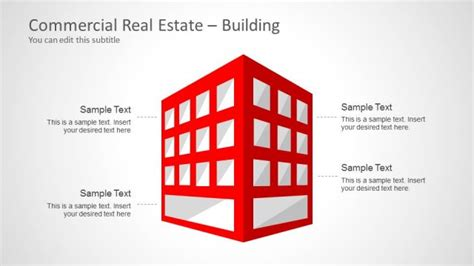 commercial real estate templates commercial real estate template for powerpoint slidemodel