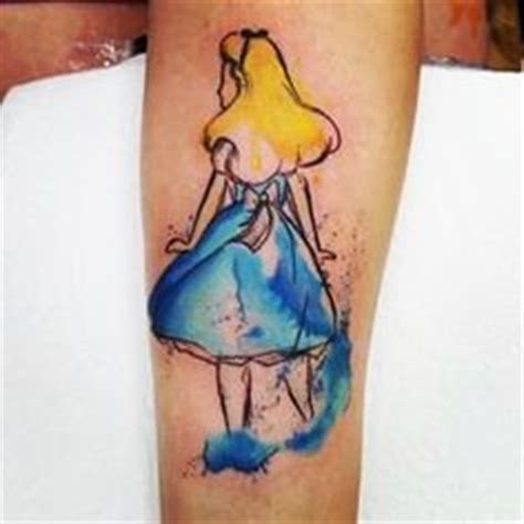alice in wonderland tattoo i m just a little color