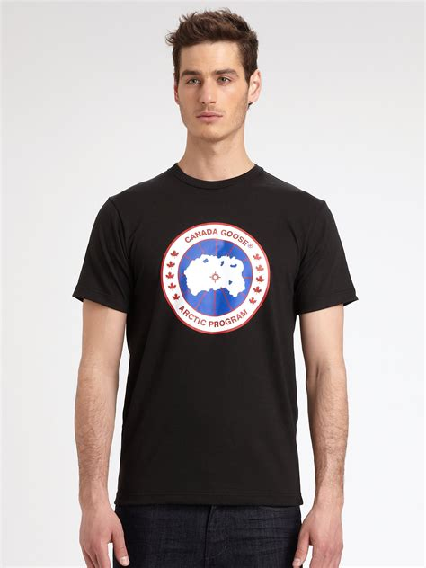 T Shirt Canada Goose canada goose cotton in black for lyst