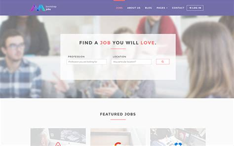 bootstrap jobs job board template other bootstrap