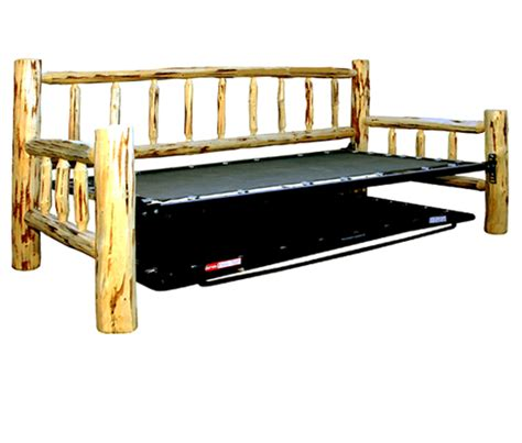 Log Bunk Beds With Trundle Log Beds Lacquer Finish Peeled Rustic Day Bed With Trundle Black Forest Decor