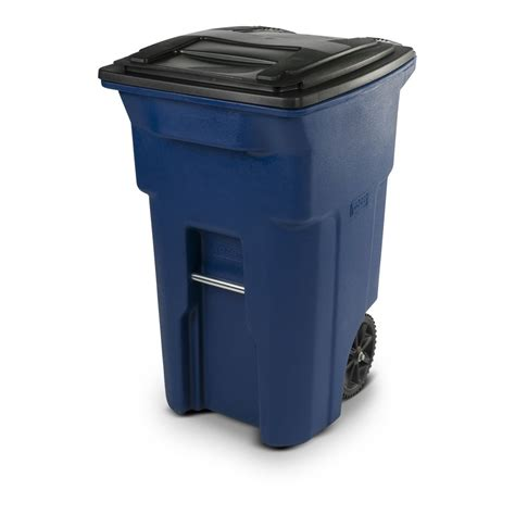 64 gallon trash can shop toter 64 gallon blue plastic wheeled trash can with lid at lowes