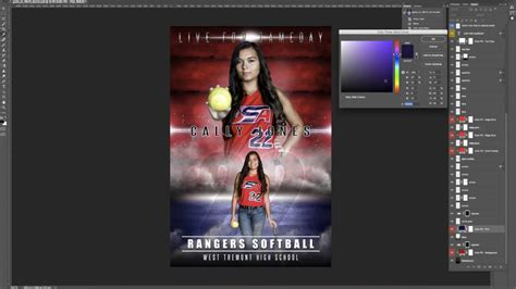 Photoshop Sports Template Tutorial Game On Youtube Photoshop Sports Templates