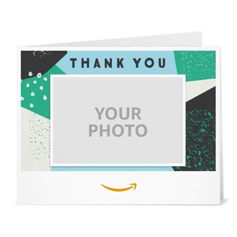 How To Upload Amazon Gift Card - amazon com amazon gift card upload your photo print thank you pattern gift cards