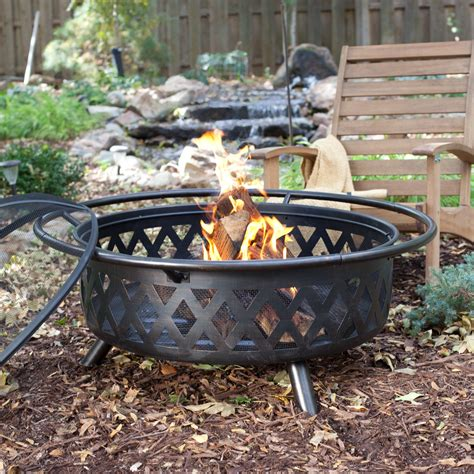 Large Firepit Ember Durango Large 34 In Bronze Pit With Free Cover Pits At Hayneedle