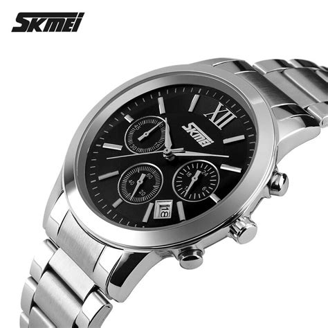 Jam Tangan Pria Sport Kw Ripcurl Casual skmei jam tangan analog pria 9097cs black jakartanotebook