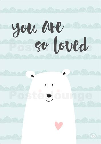 Kinderzimmer Junge Poster by M You Are So Loved Mint Poster Bestellen