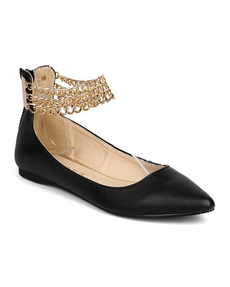 Ballet Flats 3 by New Liliana Tobbi 3 Leatherette Pointy Toe Ankle