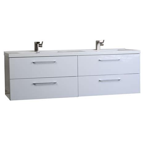how high is a bathroom vanity buy 67 in modern double vanity set high gloss white tn