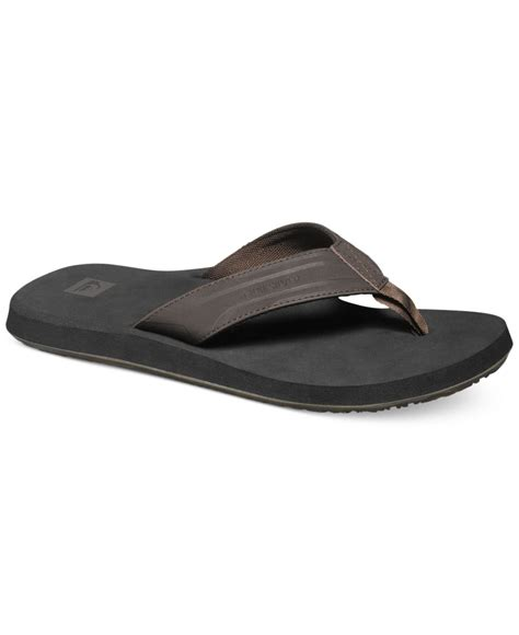 quiksilver sandals quiksilver s monkey wrench sandals in brown for lyst