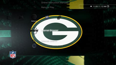 ps4 nfl themes nfl packers highlights static theme on ps3 official