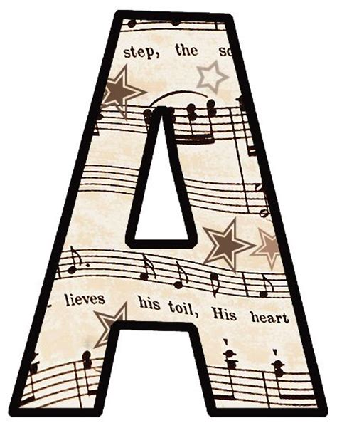 printable alphabet set free printable vintage sheet music the entire