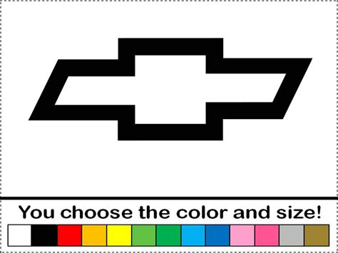 chevy symbol tattoos chevy bowtie symbol logo emblem vinyl decal car truck