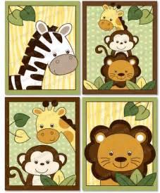 safari jungle animal nursery wall art printable instant