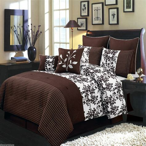 Bedding Sets by 8pc Royal Tradition Bliss Brown Luxury Bed In A Bag