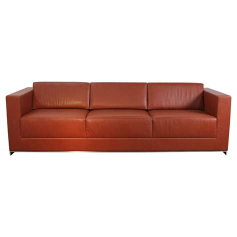 sofa frame for sale bernhardt leather saddle color sofa on chrome frame for
