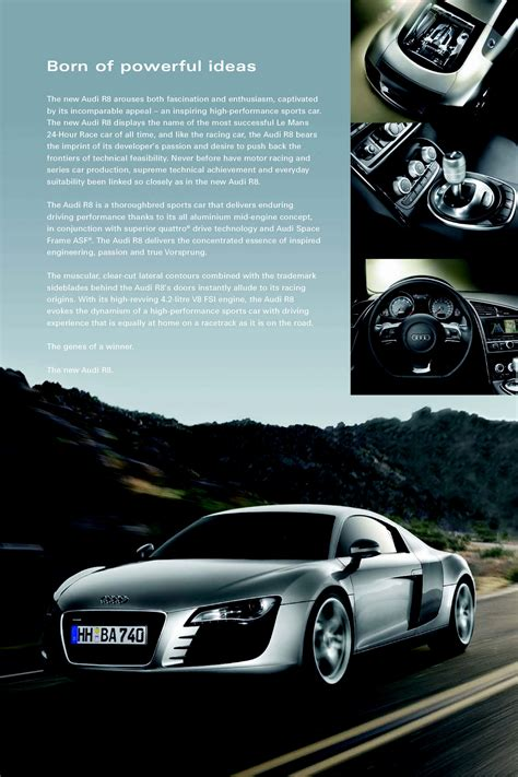 Audi R8 Brochure by Pictures Of 2007 Audi R8 Upcomingcarshq