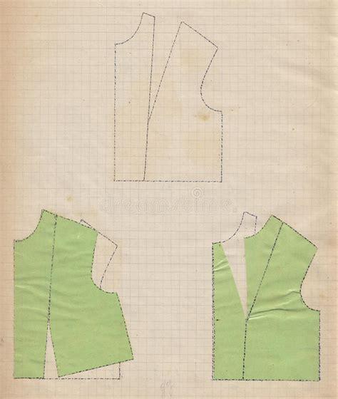 grid pattern fashion hand drawn fashion pattern design on grid paper stock