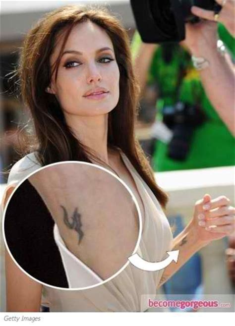 angelina jolie tattoo tattoos photos and explanation