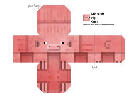 Minecraft Papercraft Pig - pig cube papercraft by lockrikard on deviantart