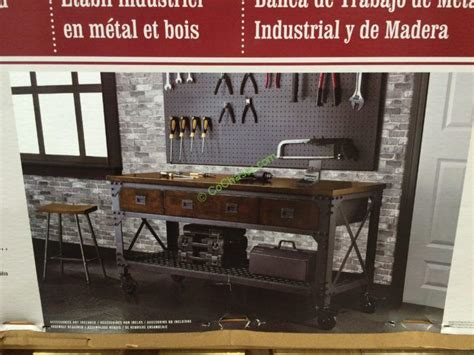 costco whalen rolling tool bench whalen industrial metal wood workbench costcochaser