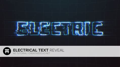 tutorial after effect text after effects electrical text reveal tutorial youtube
