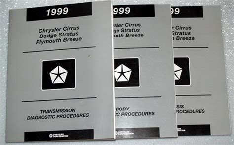 service manuals schematics 1999 plymouth breeze regenerative braking 1999 dodge stratus chrysler cirrus plymouth breeze shop service manual 5 vol set ebay
