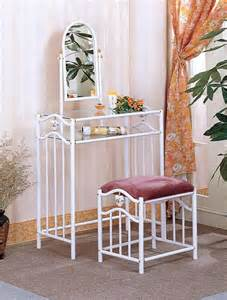 Metal Vanity Table White Metal Make Up Vanity Table Set With Porcelain Heart