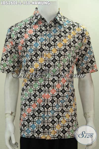 Baju Pria Pakaian Busana Kemeja Pendek Motif Batik Murah 11 baju batik cowok motif kawung model lengan pendek pakaian batik proses cap desain keren warna