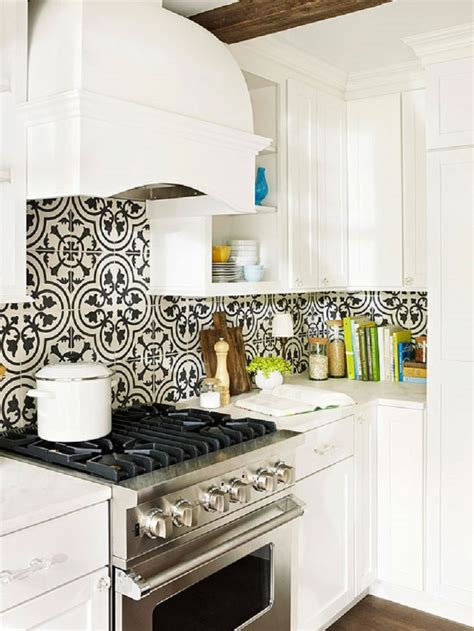 black and white tile kitchen ideas 50 best kitchen backsplash ideas for 2016