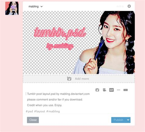 layout for twitter tumblr tumblr post layout psd by mabling by mabling on deviantart