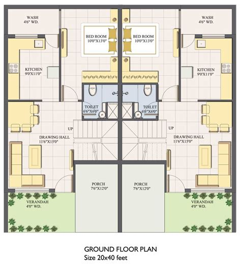 house map design 20 x 40 20x40 house plans small pool home deco plans