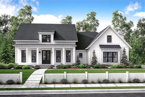 Modern Farmhouse Plans With Photos by Mid Size Exclusive Modern Farmhouse Plan 51766hz